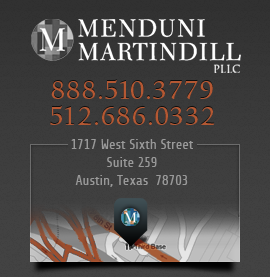 Menduni Martindill, PLLC, Texas family lawyers, 1717 West Sixth Street, Suite 259, Austin, Texas 78703